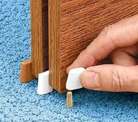 ez nail on sliding closet door guide. Black Bedroom Furniture Sets. Home Design Ideas