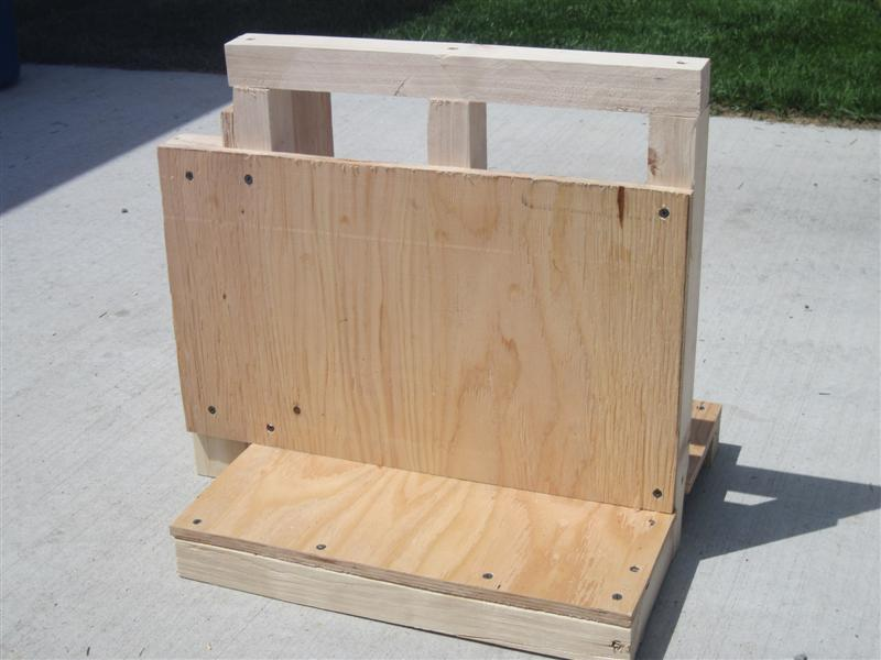 sheet of plywood into the wall attached to a stud - Pony Wall