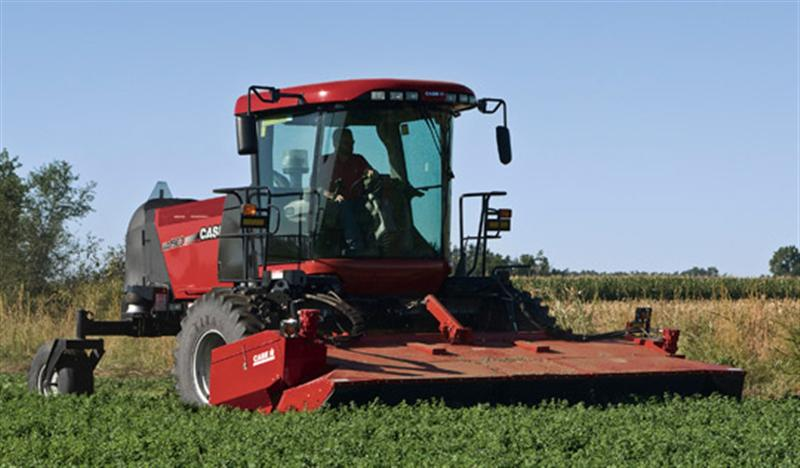 Case Lawn Mowers : The case ih windrower lawn mowing like an american