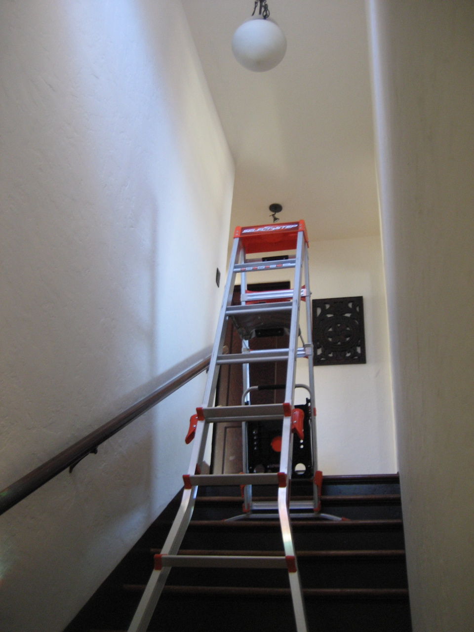 Lighting Basement Washroom Stairs: Little Giant Select Step Ladder Review