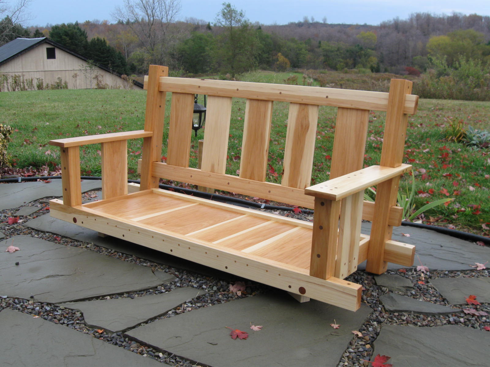 How to build an adirondack porch swing for Outdoor swing plans