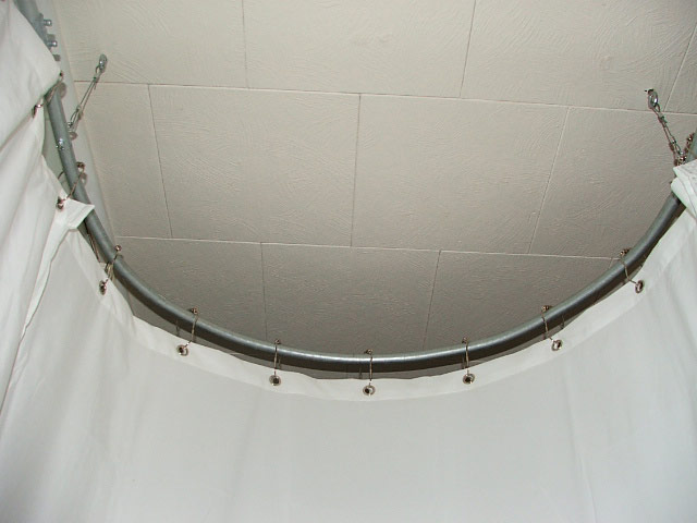 how to make a round shower curtain rod and get voted onto