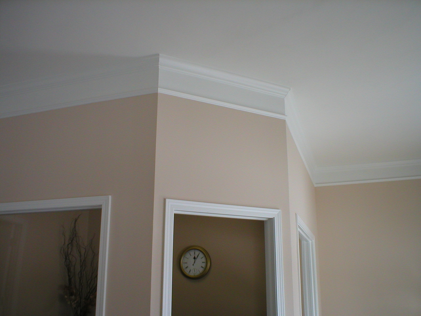 stacked crown moulding pretend youre rich even if you arent - Ceiling Molding Design Ideas