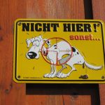 german don't poop here sign
