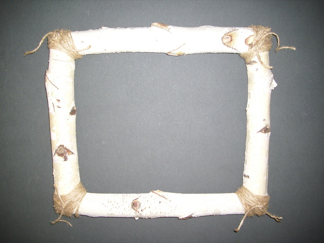 How to build a rustic picture frame using half round birch