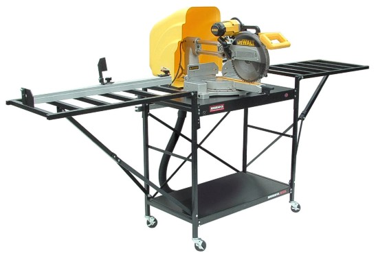 the miter saw table downdrafter