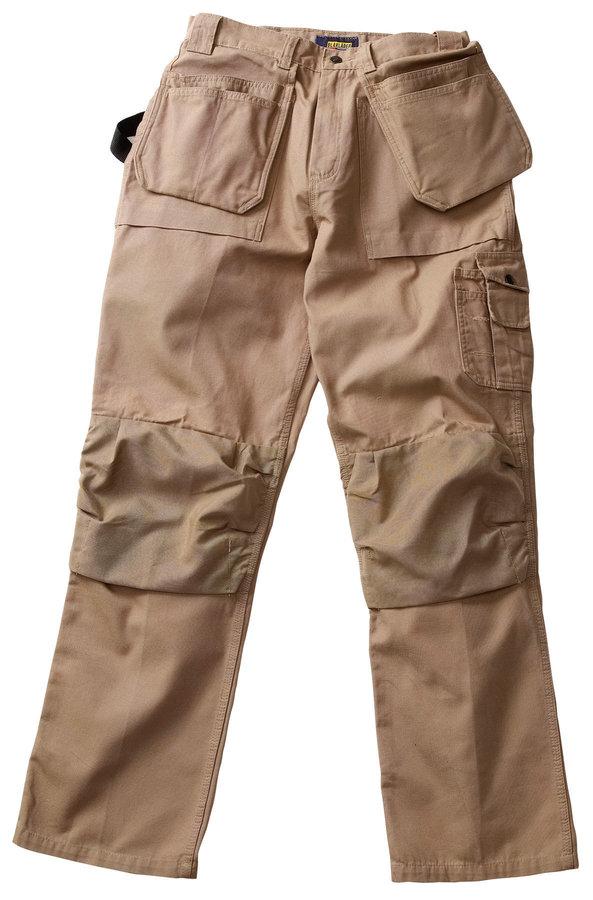 blaklader khaki bantam pant with utility pockets