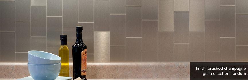100 aspect metal backsplash tiles shop aspect metal 0 5 in
