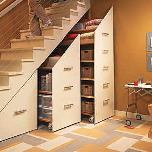 Under Stair Storage Cabinets As Seen In