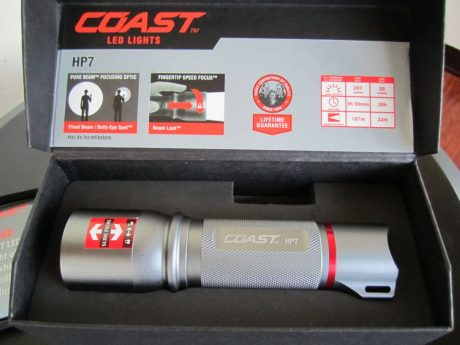 Coast hp7 LED flashlight