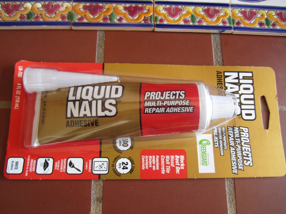 Liquid nails for tile tile design ideas for Spanish style house numbers