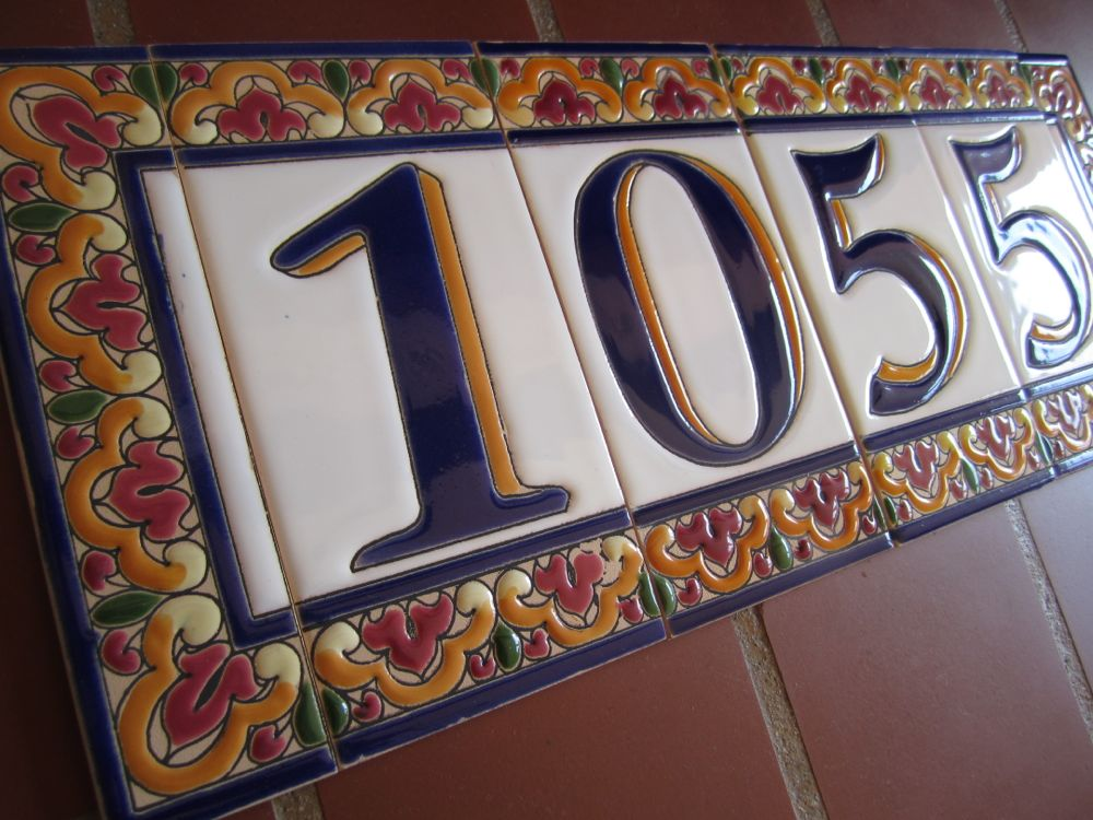Mission Style House Number Tiles on Your Spanish Revival