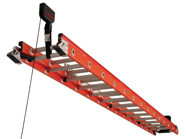how to use pulley on extension ladder