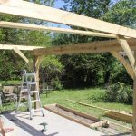 first-pergola-joists-in-and-braced