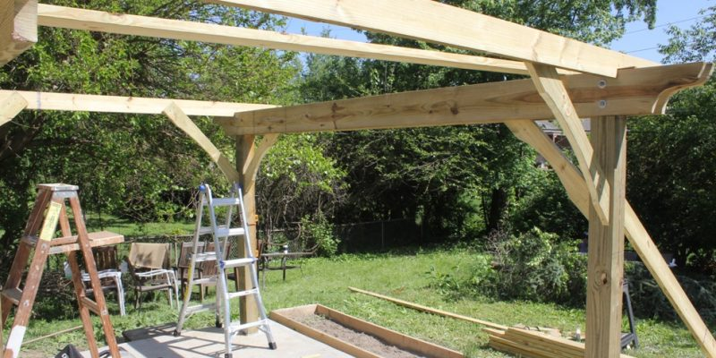 How To Build A Pergola U2013 Two Days And $500 To Pergolic Splendor!
