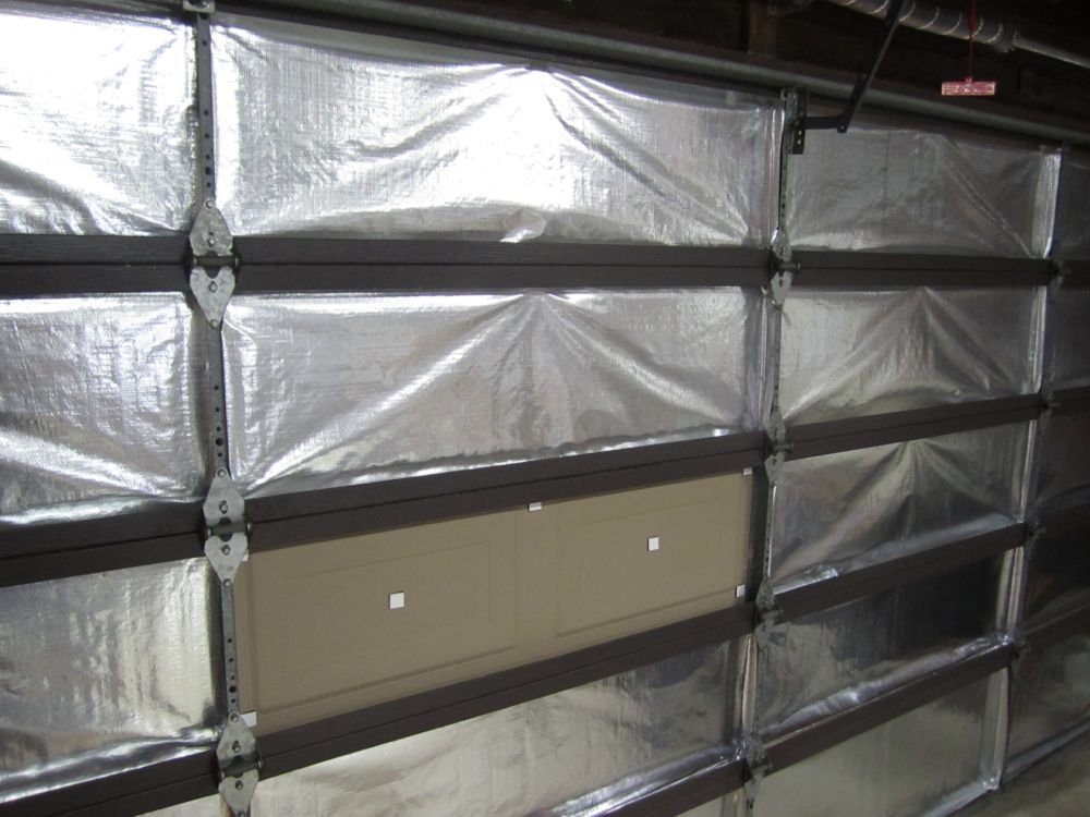 how to insulate garage doorGarage Door Insulation Kit HowTo and Review  Reach Radiant Barrier