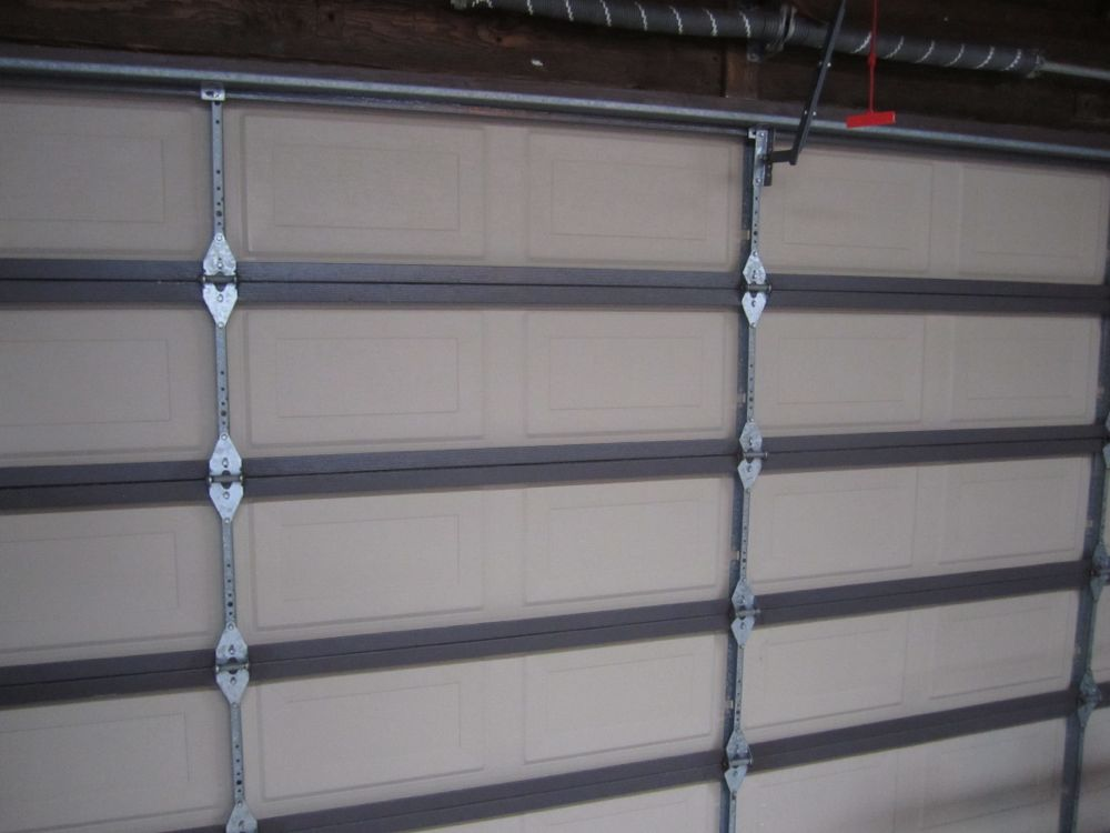 garage-door-insulation-before & Garage Door Insulation Kit How-To and Review - Reach Radiant Barrier