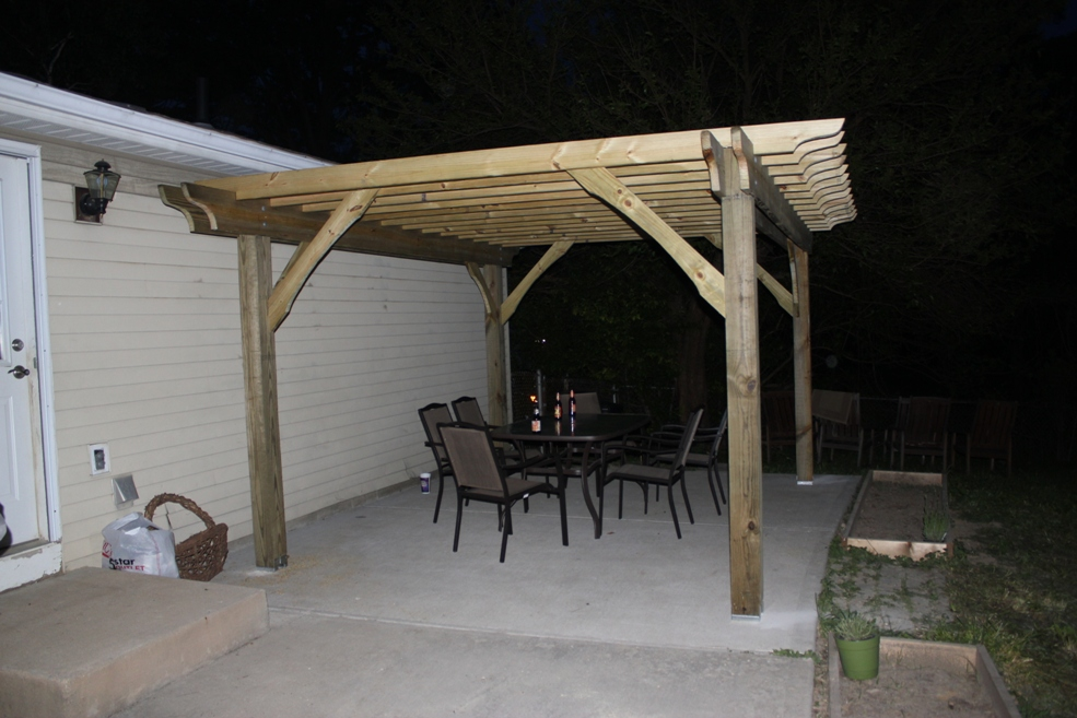pergola-done - How To Build A Pergola In Two Days On A Budget - Detailed How-To