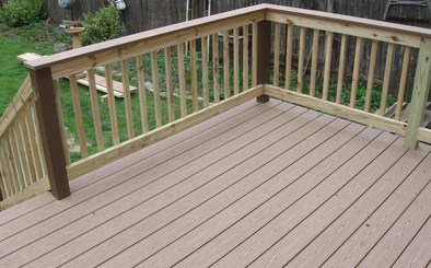 Composite decking by timbertech low maintenance for Alternative to decking