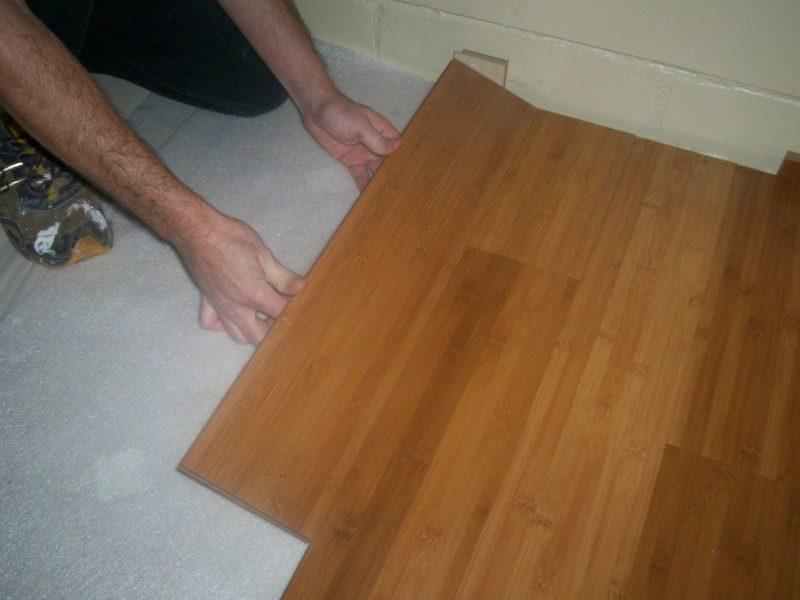 Installing bamboo click lock flooring