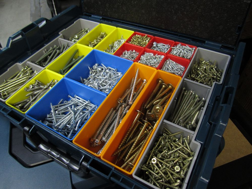 Bosch l boxx 1a review fastener and accessory storage on - Organizing nuts and bolts ...