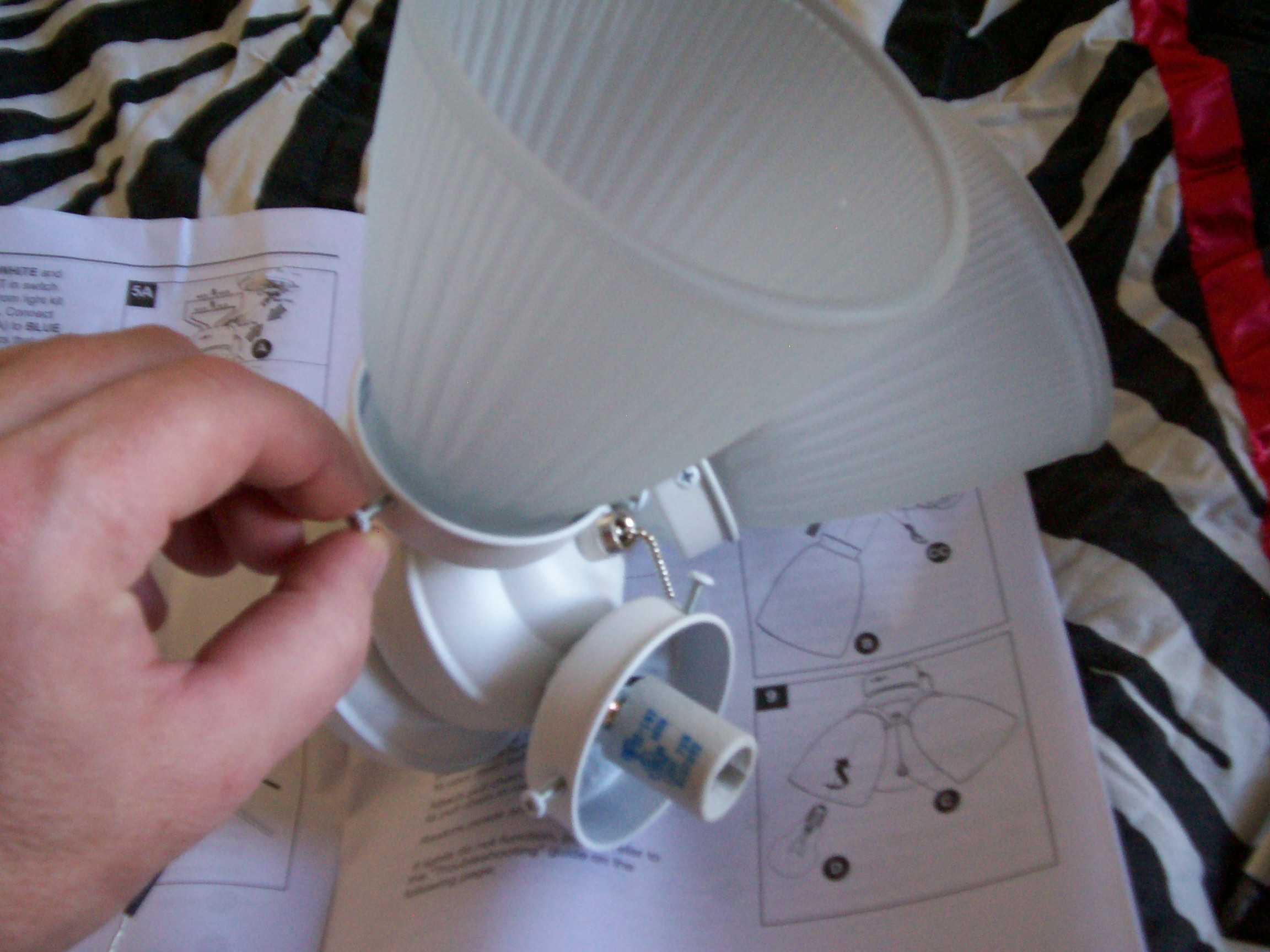 Ceiling Fan Light Kit Installation How To And Red Wire Wiring Without Also Hunter Screw It