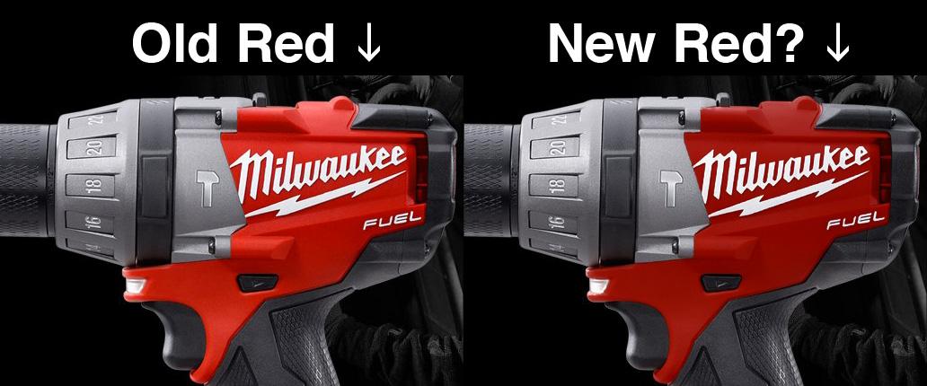 new milwaukee tools. anyone that knows milwaukee tools they are fanatical about red branding. it has come to our attention, although technically still a \u201crumor\u201d at this new l