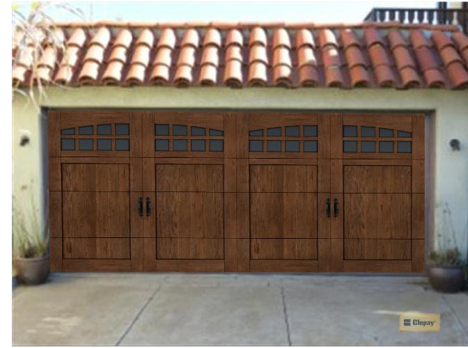 Clopay garage doors review extreme makeover with before for Garage door visualizer