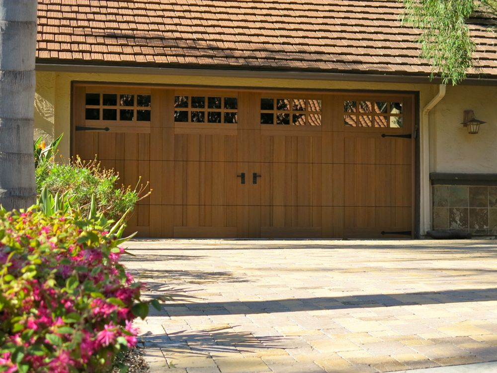 Clopay garage doors review extreme makeover with before for Wood looking garage doors