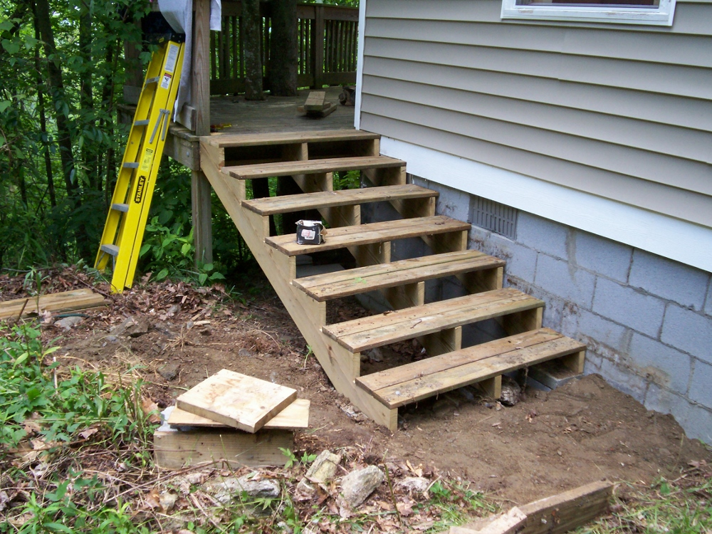 How to build stairs in a few simple steps - How to build a wooden shed in easy steps ...