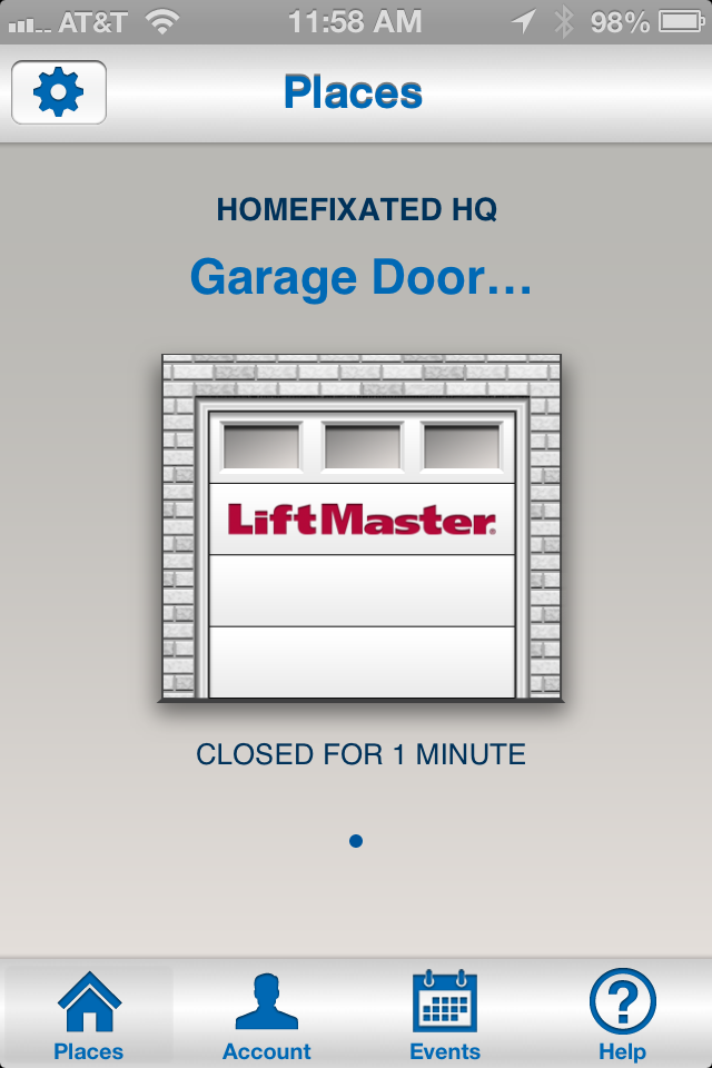 Liftmaster garage door opener we review the 8550 with for App to open garage door