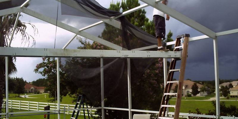 Fix your pool screen roof panels diy for daredevils for Cost to build a lanai