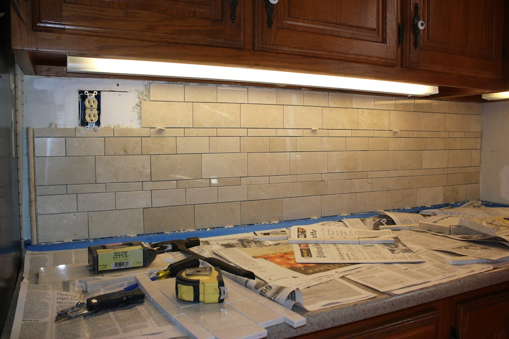 installing a kitchen tile backsplash how to install tile backsplash casual cottage