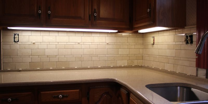 installing a kitchen tile backsplash