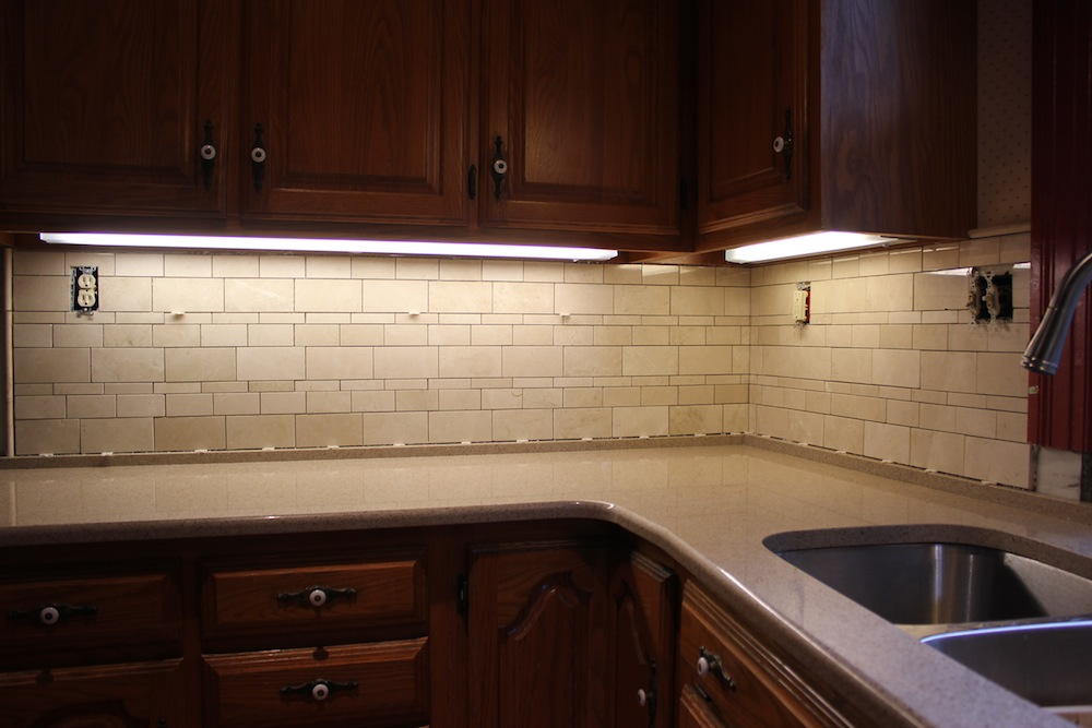 Installing a kitchen tile backsplash for Can you replace kitchen cabinets without replacing countertop
