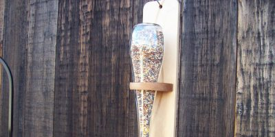 A Pinterest Project – Glass Bottle Bird Feeder