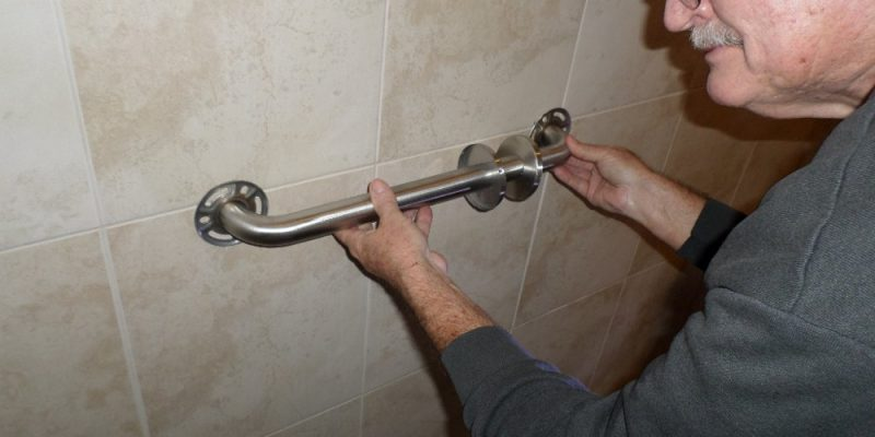 shower grab bar install 101 - home fixated