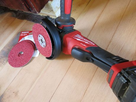 The Fuel Grinder even handled aggressive disc sanding with ease