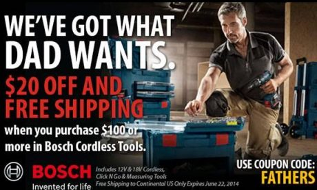Get great Father's Day gifts and save big bucks doing it at Ohio Power Tool