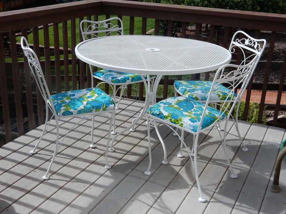 Vintage re upholstered patio furniture