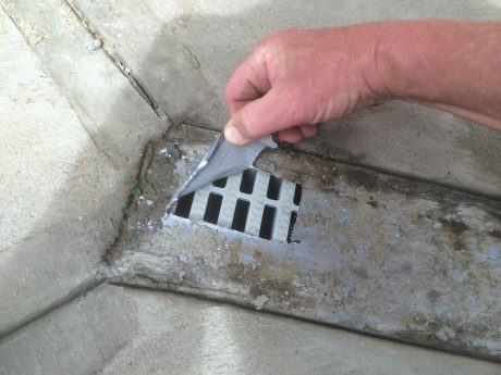 install a channel drain