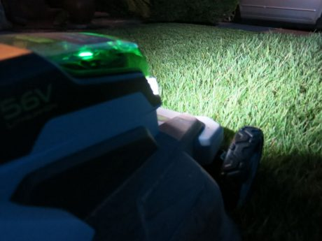 The scene during my night mowing adventure