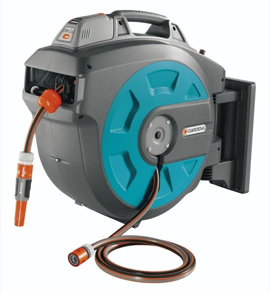 roboreel water hose reel review a reel garden robot. Black Bedroom Furniture Sets. Home Design Ideas