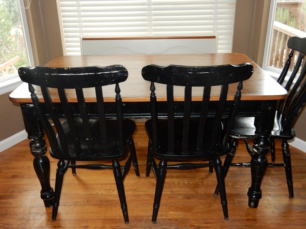 distressed wood dining room