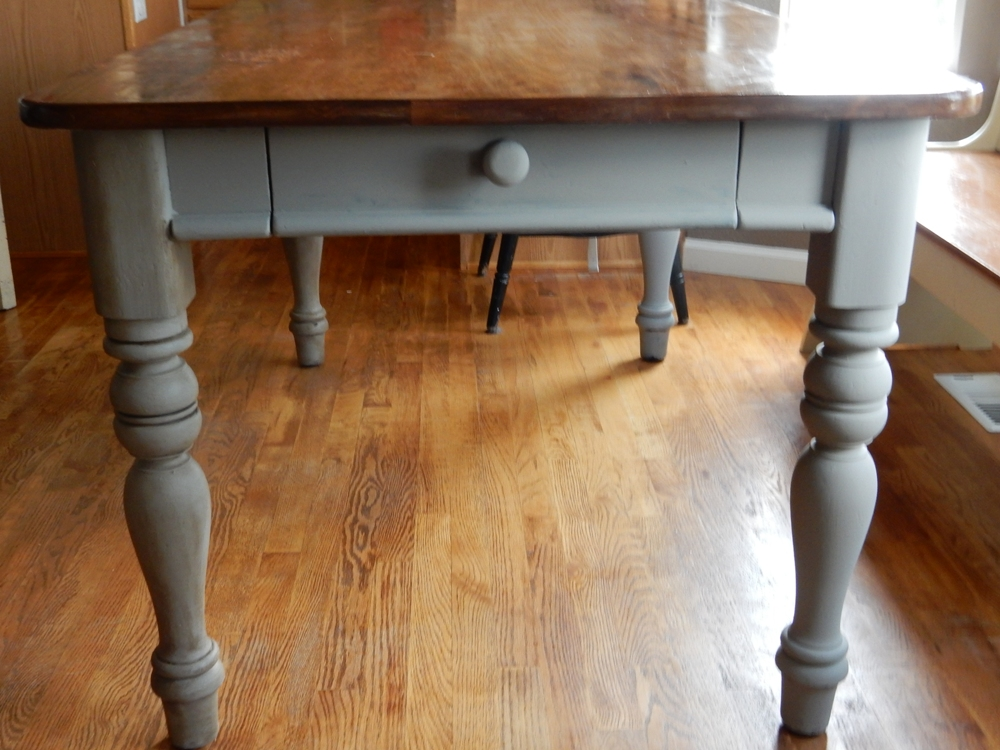 A Table Restoration Refinishing With Chalk Paint