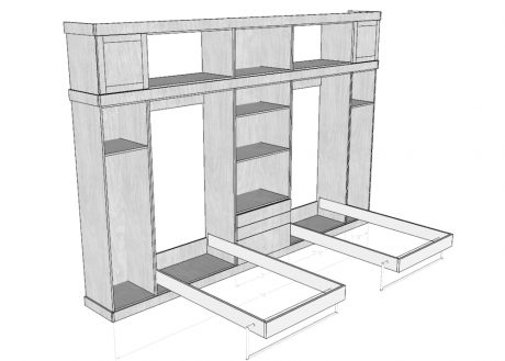 Shop drawings and cut lists were generated using Sketchup.