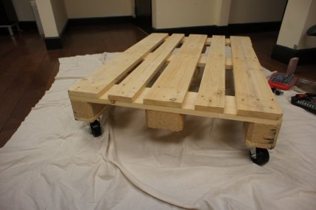 pallet coffee table bottom
