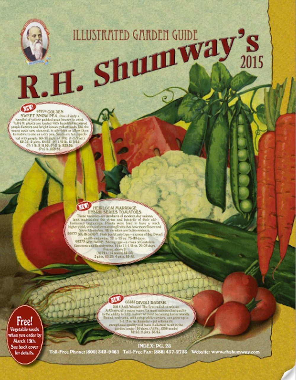 rh shumway is one of the grandaddies of the mail order seed business and they celebrate it with their oldtimey catalog itu0027s a large format newsprint