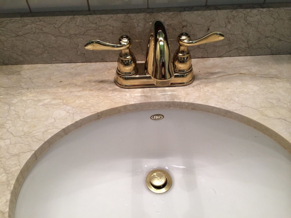 Cool leaking bathroom faucet