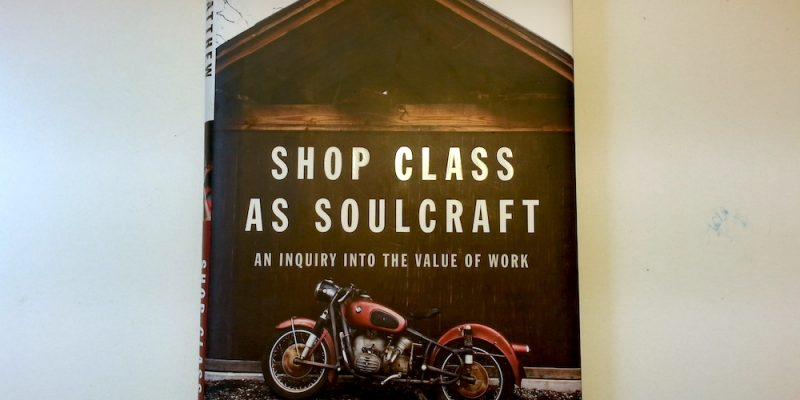 Meta Shop Class as Soulcraft Book Review and Book Repair How-To